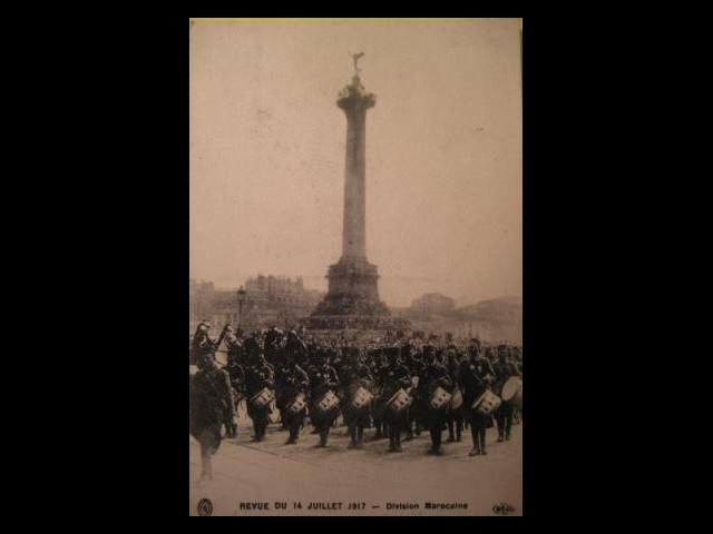 Revue du 14 juillet 1917 – Division marocaine