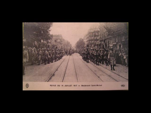 Revue du 14 juillet 1917 – Boulevard Saint Michel