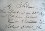 Adresse postale du sous-lieutenant M. Sibaud