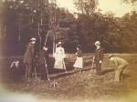 Partie de croquet à Vincennes - 1904